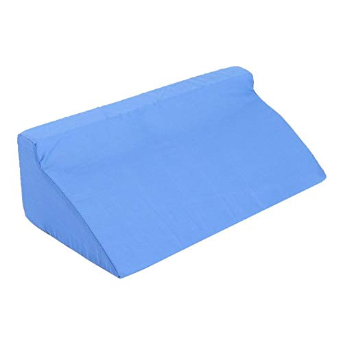 Wolfgo Wedge Cushion-Foam Wedge Cushion with Washable Zipper Cover Leg Elevation Back Lumbar Support Pillow (Blue)