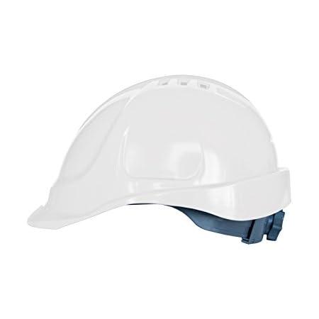 Casco protettivo con fascia antisudore, misure regolabili, EN397, rosso