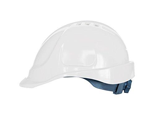 Casco de protección con cinta de sujeción, tamaño ajustable, EN397, color blanco