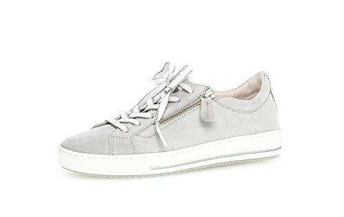 Gabor Damen Sneaker, Frauen Halbschuhe,lose Einlage,Moderate Mehrweite (G),weiblich,Ladies,Women's,Woman,schnürschuhe,Light Grey,39 EU / 6 UK