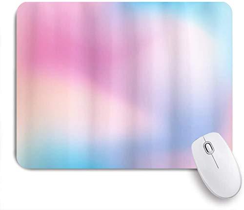 HUAYEXI Stoff Mousepad,Pastell Abstract Blurry Colors Komposition Daydream Fantasy Verschiedenes,Rutschfest eeignet für Büro und Gaming Maus