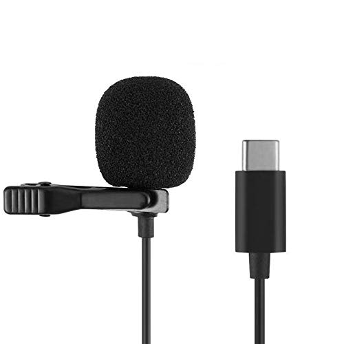 Android C-type microphone, clip-on lapel omnidirectional microphone audio and video recording, compatible with YouTube, interview videos, podcasts and other Android C interface devices