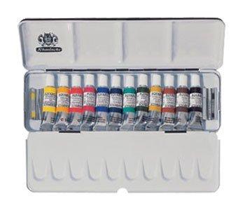 SCHMINCKE Watercolor Set, 12 5ml Tubes A Metal Box (74112097) by Schmincke
