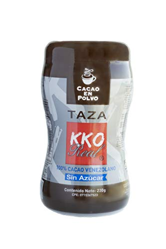 KKO REAL - Cacao Puro en Polvo Taza - Natural sin Azúcar 100% Venezolano (230 gr)
