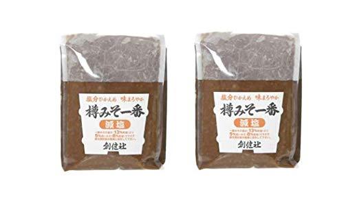 [創健社] 味噌 樽みそ一番 (減塩) 1000g×2