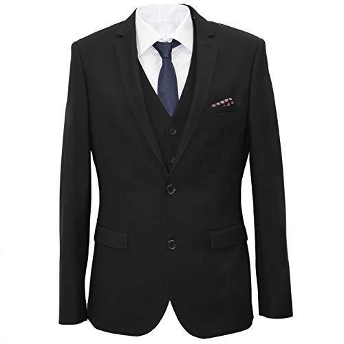 carter & jones Suit Big & Tall Tailored Fit Three Piece in Black 52R