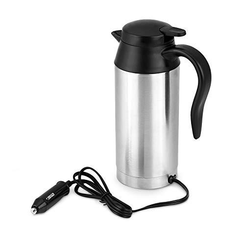 Hervidor Agua Coche, Hervidor de Agua Coche, Taza Electrica de Coche, Termo con Cargador Coche, Hervidor 12V Taza de Calefacción Eléctrica de Viaje para Automóvil de Té de Café