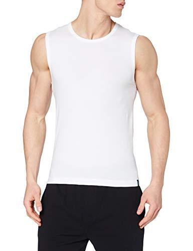Schiesser Herren Tank Top Unterhemd, Weiß (100-weiss), Large (6 (L))