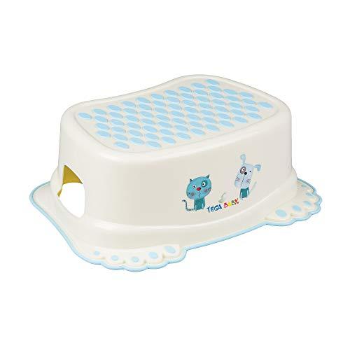 Tega Baby ® Marchepied pour enfant Toilettes formation enfants Potty antidérapant de sécurité bébé   Marche pieds   à partir de 3 ans environ   Unisexe Pour enfant, Motif:Chat et chien - jaune