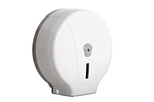 SemyTop ST-5030 - Dispensador de papel higiénico para rollos Jumbo, color blanco/gris, 330 x 310 x 125 mm