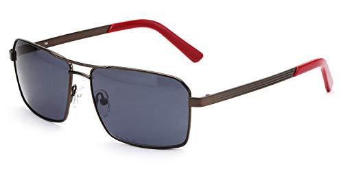 Viereckige Sonnenbrille für Damen & Herren, leichter Metallrahmen, inkl. Vorteilscode für Gläser in Sehstärke (Gleitsicht/Einstärke) - Modell 18202P-151