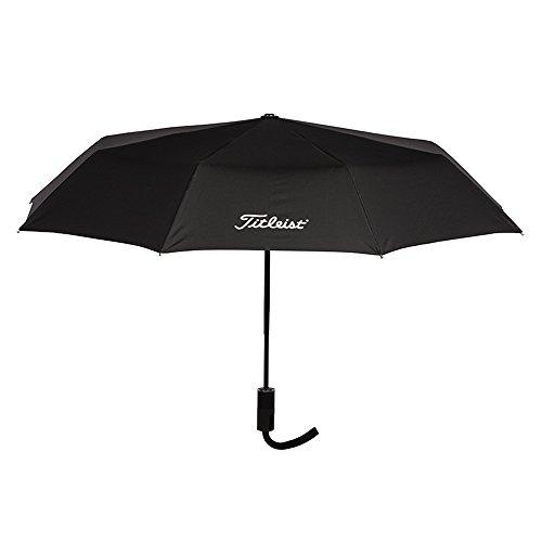 TITLEIST Herren Professional Folding Umbrella Regenschirm, schwarz