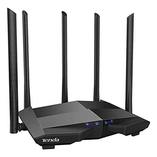 For Tenda AC11 AC1200 Wifi Router Gigabit 2.4G 5.0GHz Dual-Band 1167Mbps Wireless Router Wifi Repeater with 5 High Gain Antennas (UK)
