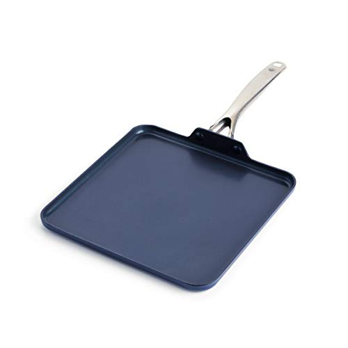 """Blue Diamond Cookware Toxin Free Healthy Ceramic Nonstick, Griddle Pan, 11"""""""