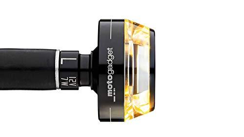Motogadget Motorradblinker LED Lenkerendenblinker m-Blaze schwarz rechts