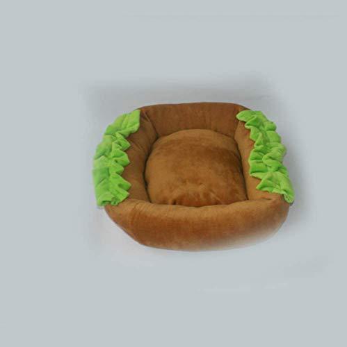 Y-YT Hundebett Thermische praktische Hamburger warmen pet Nest für Hund Katze Matratze braun