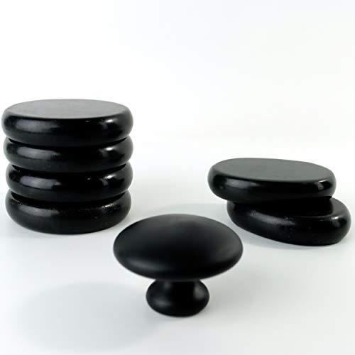 Hot Stones - 6 Large Essential Basalt Massage Stone Set 1 Gua Sha Body Facial Heating Mushroom Stone...