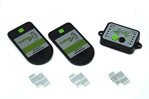 Gasflaschen Inhaltsanzeige by MOPEKA Bluetooth Set für Zwei Flaschen inkl. Monitor - Füllstandsanzeiger - Gas Level Control Check für Stahlflaschen. Füllanzeige für Camping und Wohnmobil