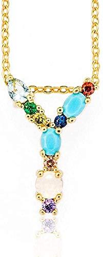 JSYHXYK Collar Collar Y - Colgante De Collar con Letra Inicial De Bricolaje para Mujer Exquisita con Nombre, Accesorios De Joyería Creativos, Regalo para Novia, Regalo