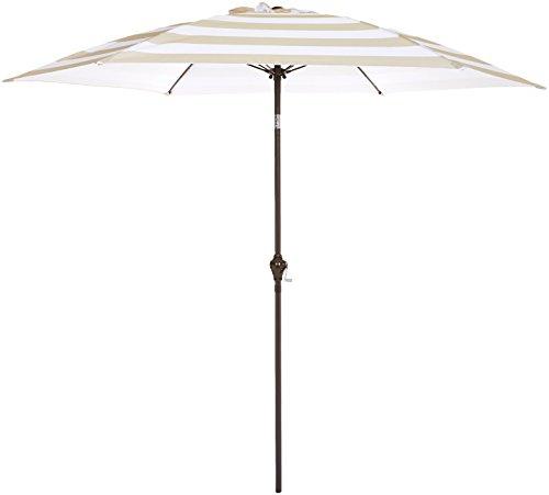 AmazonBasics JC013 Patio Umbrella-9-Foot, Striped Grey/White