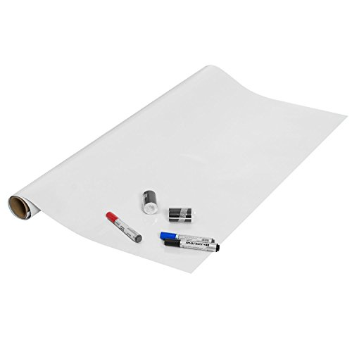 Fancy-fix Large Dry Erase Board Self-Adhesive WhiteBoard Wall Sticker Wallpaper Peel and Stick Rolling for School & Office 42 Inches by 76 Inches