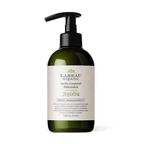 Labeau Organic Leche Corporal Hidratante con aceite de Jojoba 500 ml | Crema corporal no grasa no aceitosa | Cosmética natural certificada