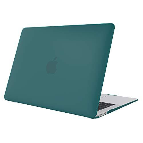 """ProCase Carcasa Gomosa para MacBook Air 13 A1932, Funda Dura Delgada con Revestimiento Engomado para 2018 2019 MacBook Air 13"""" con Retina –Verde Azulado"""