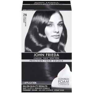John Frieda Precision Foam Colour 2N Natural Black (Pack of 2)