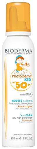 PHOTODERM KID mousse SPF 50+ 150ml |Protection optimale UVA-UVB – Active les défenses naturelles de la peau| Enfants à partir de 12 mois