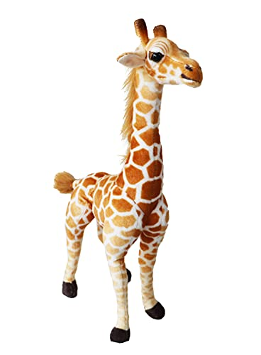 Oternal Giraffe Plush Doll for Kids Giraffe Stuffed Toy for Boys and Girls Snuggly and Soft Large Giraffe Stuffed Animal Cute Design with WireFramed Legs Soft Posable Neck 20 inches