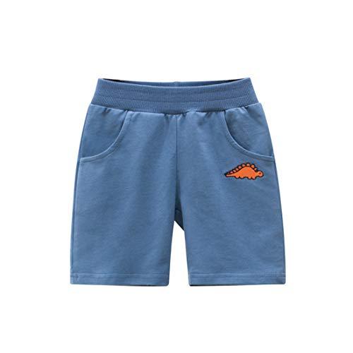 Cicilin Jungen Baby Kinder Shorts Sportshorts 100% Baumwolle Weich Freizeit Outdoors Blau 1 128-134