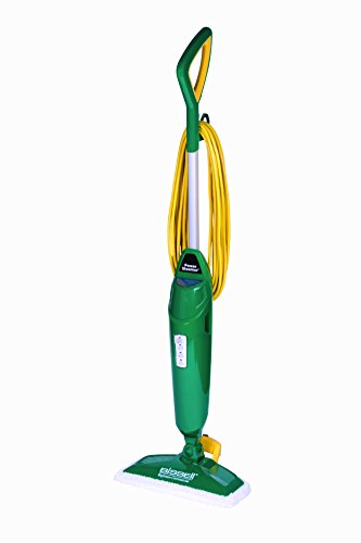 """Bissell Commercial-BGST1566 Steam Mop Power Steamer, 12.5"""" wide, comes with Two soft pads for every day and one scrubby pad for heavy messes,Green"""