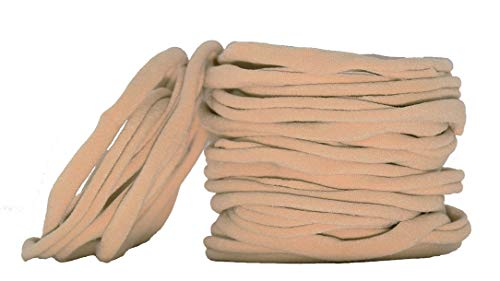 catin Super Soft Nude Nylon Headband for Newborn Baby Kids, High Stretchy, 20 Pcs for DIY Crafts