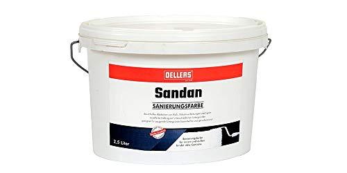 OELLERS Sandan | Ruß- und Nikotin Isolierfarbe | hochwertige Renovierungsfarbe für innen und außen | Dispersionsfarbe | bindet üble Gerüche | 2,5 Liter