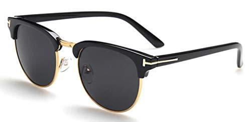 WHAELI James Bond Sonnenbrillen Herren Sonnenbrillen Damen Super Star Celebrity Driving Sonnenbrillen Tom für Herren Brillen schwarz