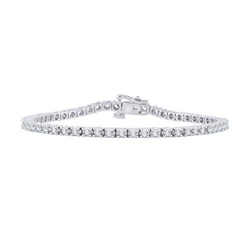 Diamond 4Prong Pulsera en oro blanco de 14K (2quilates)