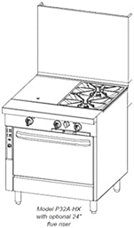Southbend P32A-HG LP - 32-in Sectional Range w/ Hot Top & Griddle, Manual, Convection Oven, LP