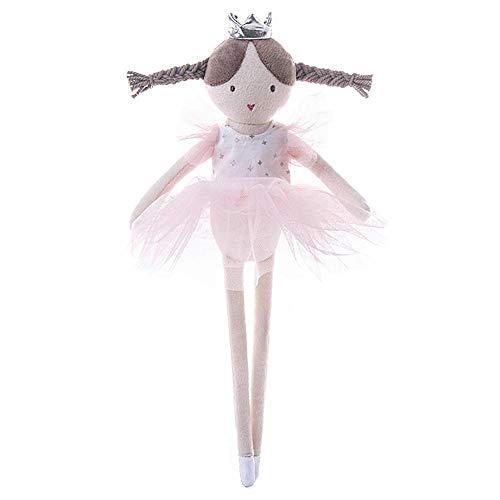 Freedomanoth Rosa Ballett Mädchen Plüsch Spielzeug Ballerina Baby Gefüllte Puppen Mit Geschenktüte, Waschbar Für Tanz Von Kleinen Mädchen Jeden Alters 34cm/13,39in