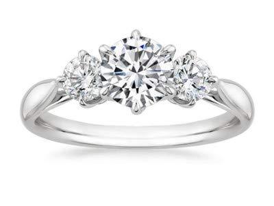 Addamas Damen - 950_Platin Platin Rund Leicht Getöntes Weiß/Top Crystal (I)