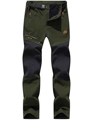 DENGBOSN Pantalones de Montaña Hombre Impermeables Invierno Calentar