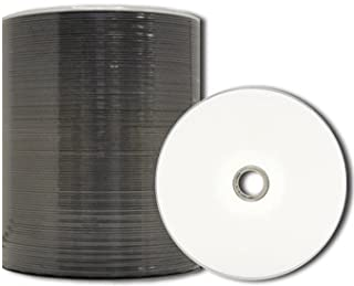 MediaPro Blank DVD - Professional Grade White Inkjet Hub Printable 4.7GB 16x DVD-R - 100 Pack (White)