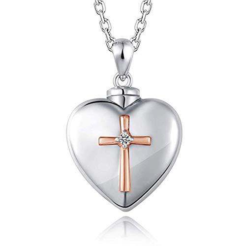 Minyose Collar con Colgante De Corazón De Amor, Caja De Cen
