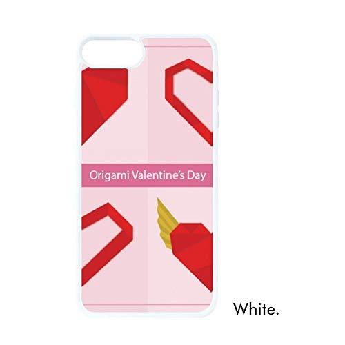 DIYthinker Resumen de Navidad roja del corazón Blanca de Origami phonecase Regalo Cubierta del Caso de Apple
