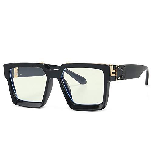 NOBRAND Regalo Maravilloso Pero práctico Moda Cuadrados Tamaño del Espejo De Las Gafas De Sol Retro Marco Grande 2pcs De Los Hombres De Gafas Unisex (Color : C)