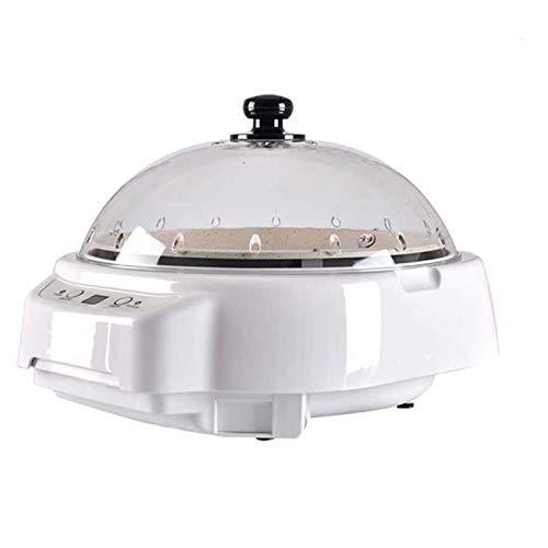 Kaffeeröster Maschine, Edelstahl Kaffeeröster, Popcorn Hersteller Bohnenrösten Digitalanzeige Countdown Funktion Für Den Cafe Shop Home Haushaltsgebrauch,Weiß