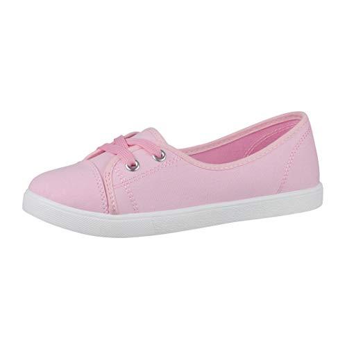 Elara Damen Ballerinas Sneaker Schnürer Chunkyrayan CL33311 Pink-39