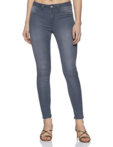 Flying Machine Women's Jeggings Jeans (FWFLJN58_Grey_30)