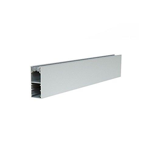 Führungsschiene Alu für Mini Vorbaurollladen Rolladen 53x22mm + Bürstendichtung (100cm, dunkelbraun)