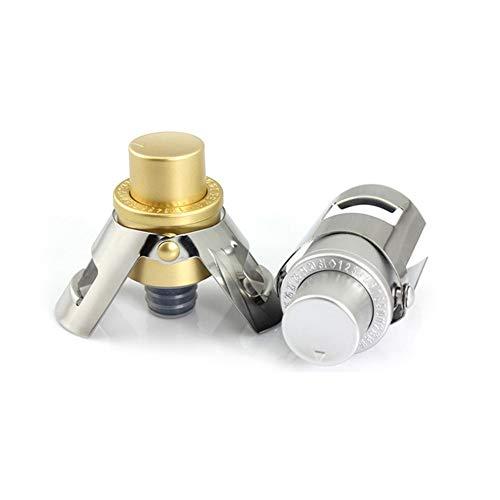 LINGLAN - Tappo per champagne con pompa a pressione integrata, per conservare le bollicine di Fizz, confezione da 2 pezzi