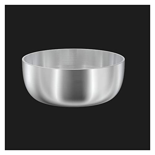 ZHENZEN 304 chrome steel mixing bowl Multifunctional mixing bowl salad bowl High capability Stackable Easy to wash Reduce space for storing (Size : 22cm)
